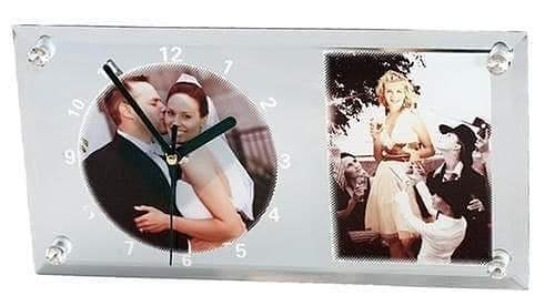 Personalised Glass Clock Photo Frame at Rs 699 /piece | Parbhani ...
