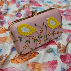 Bird Design Ladies Clutches Ladies Handbag