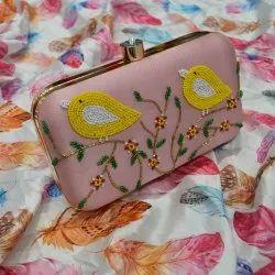 Bird Design Ladies Clutches Ladies Handbag