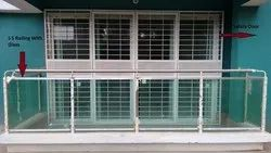 Coated Balcony SS Railing, For Home, Mounting Type: Floor