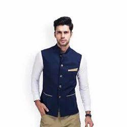 Cotton Designer Nehru Jacket, Size: S-XL