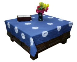Cotton Dining Table Covers Handmade Tie Dye Square Table Toppers