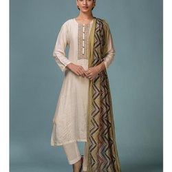 Multicolor Embroidery Cotton Muslin Suits