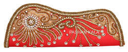 pashan kala Female Beaded and Embroidery Decorative Clutch Purse