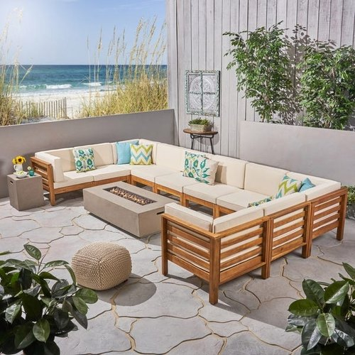 Foam U Shaped Teak Wooden Sofa Set, Living Room Teak Wood Sofa Set Designs Pictures