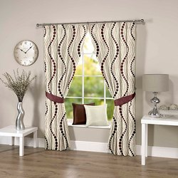 Abstract Wavy Brown Curtain