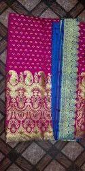 Banarasi Wedding Wear Saree With Blouse Piece