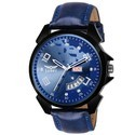 Mens  Blue Day And Date Wrist Watch