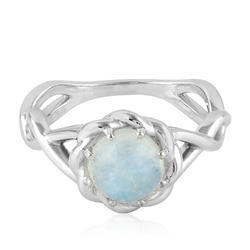 Gemco Designs Rainbow Moonstone Silver Gemstone Engagement Ring