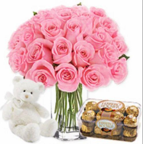 Pink Rose Vase At Rs 1600 Bunch Flower Vase Id 16584286488