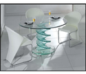 Transparent Glass Dining Table