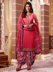 Casual Wear Crepe Patiala Suit