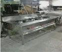 Stainless Steel Three Burner Gas Range