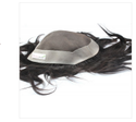 10x8 Inch Men Human Hair Black