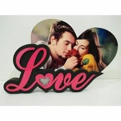 Free Standing Plastic Love Photo Frame, Packaging Type: Box