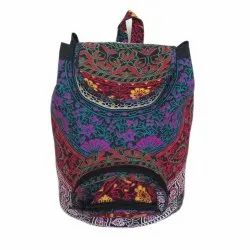 Cotton Fabric Indian Backpack Bag