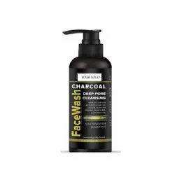 Herbal Black Detox Charcoal Face Wash, Cream