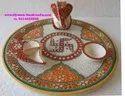 Decorative Marble Ganesha Pooja Thali