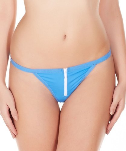 6d923f27c28 Available in 5 colors - Blue and Red La Intimo GString Zipper String For  women