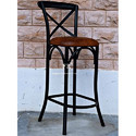 Metal Black Frame Bar Chairs