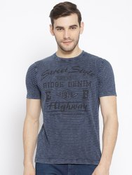 Casual Wear Striped R Mens T-Shirt