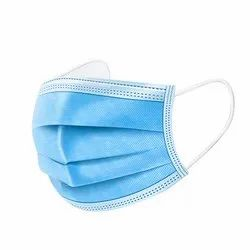 Ear loop Blue PP Non-Woven Surgical Disposable Face Mask, Number of Layers: 3
