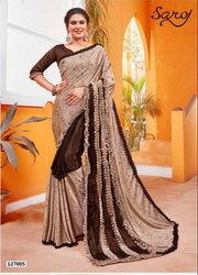 Ethnic Designer Party Wear Lycra Saree