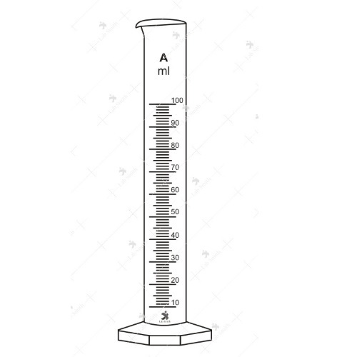 Labsmith Clear Amber Measuring Cylinders With Spout Rs 100