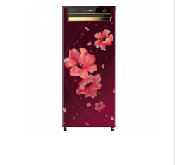 Whirlpool Icemagic Pro 245L Single Door 3 Star Wine Hibiscus Refrigerator