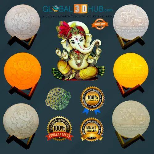 Customized Moon Lamp 14 Cm Wireless Diwali Moon Lamp Manufacturer From Jaipur