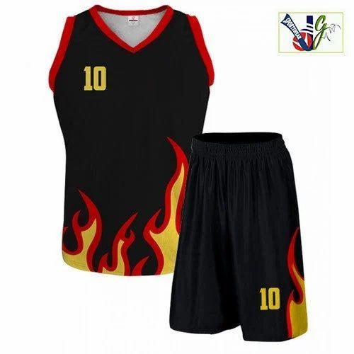 f64b5f7b01c Black, Red Mens Printed Basketball Uniform Kit, Rs 450 /set | ID ...