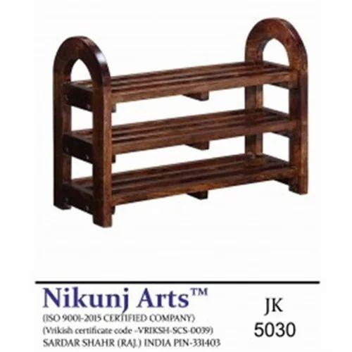 Nikunj Arts Brown Round Corner Shoe Rack