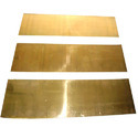 Polished Soft Brass Sheet, Rectangle, 3-4 Mm