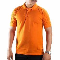 Plain Corporate Collar T-Shirt With Customised Logo Print