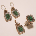 Designer Turkish Colored Ring Pendant Set