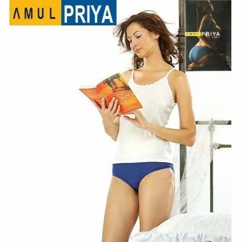 Amul Priya Cotton Ladies Plain Blue Panty