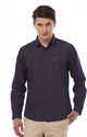 Business Casual Patterned Van Heusen Brown Shirt, Size: 40