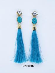 Tassel Stone Thread Earring