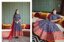 Savory Silk Anarkali Style Stitched Party Wear Salwar Kameez