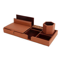 Brown Office Desk Top Organizer