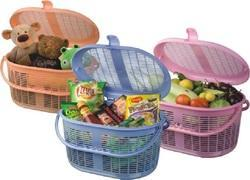 Plastic Basket With Lock Silky