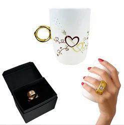 Funny Proposal Golden Ring Mug