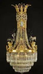 Golden Crystal Royal Chandelier