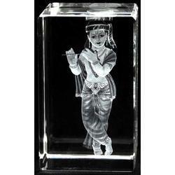 Transparent 3D Crystal Cube