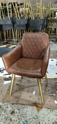 Modern Leather Sofa Chair, For Hotel, Seating Capacity: 1