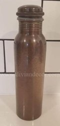 Antique Finish Embossed Pure Copper Bottle