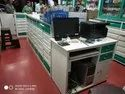 Reliance Green Metal Center Table With Drawers, For Commercial