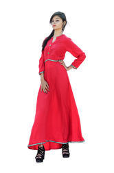 Cotton Slub Anarkali Kurti
