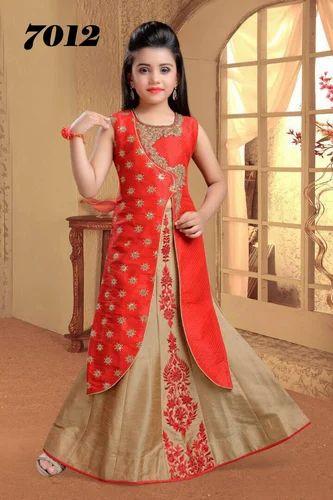 5bec454325 Orange Designer Side Cut Lehenga, Size: 24 To 38, Rs 2295 /piece ...