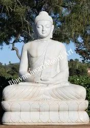 White Marble Buddha Sculpture